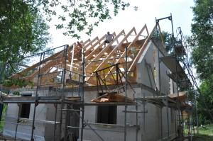 Der Dachstuhl wächst