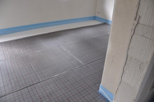 Zwischendecke im Fußboden