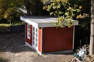 Das (fast) fertige Gartenhaus