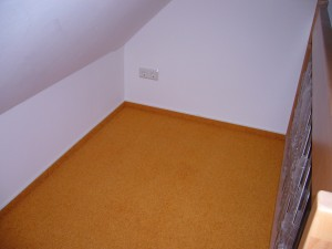 Teppich im Spitzboden