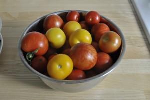 ein kleiner Teil der Tomatenernte